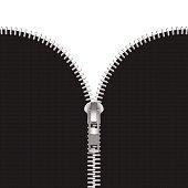 Vector Zipper Illustration Isolated on White Background