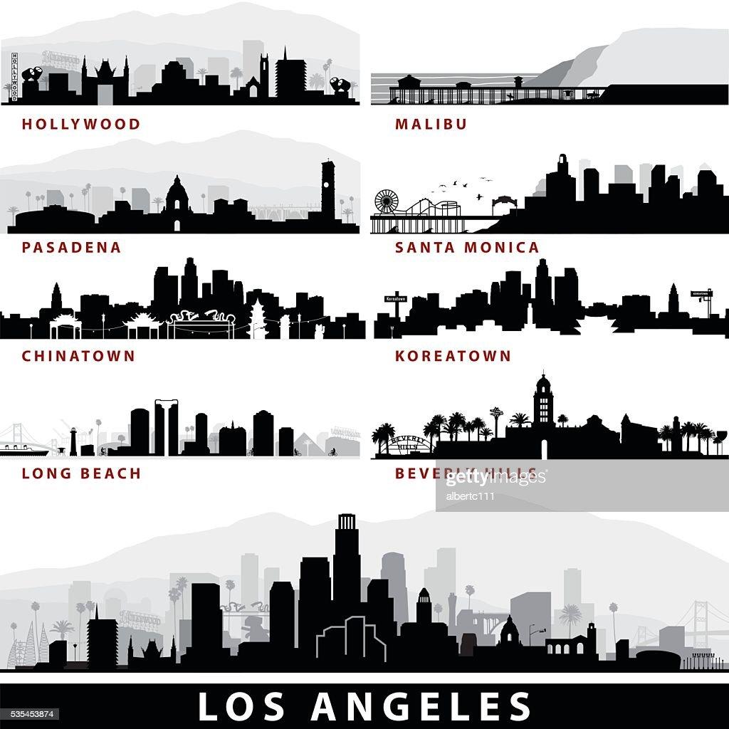Vector_LA Cityscapes : stock illustration