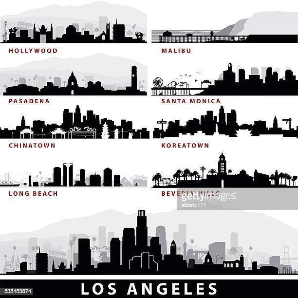 vector_la cityscapes - hollywood california stock illustrations