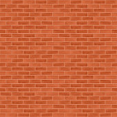 A vectored red and orange brick wall