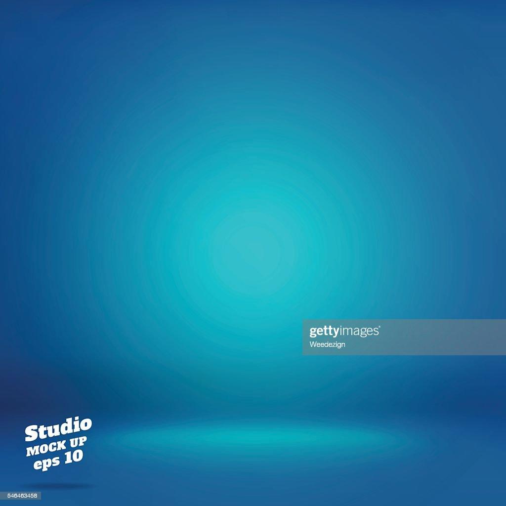 Vector,Empty vivid lighting blue studio room background