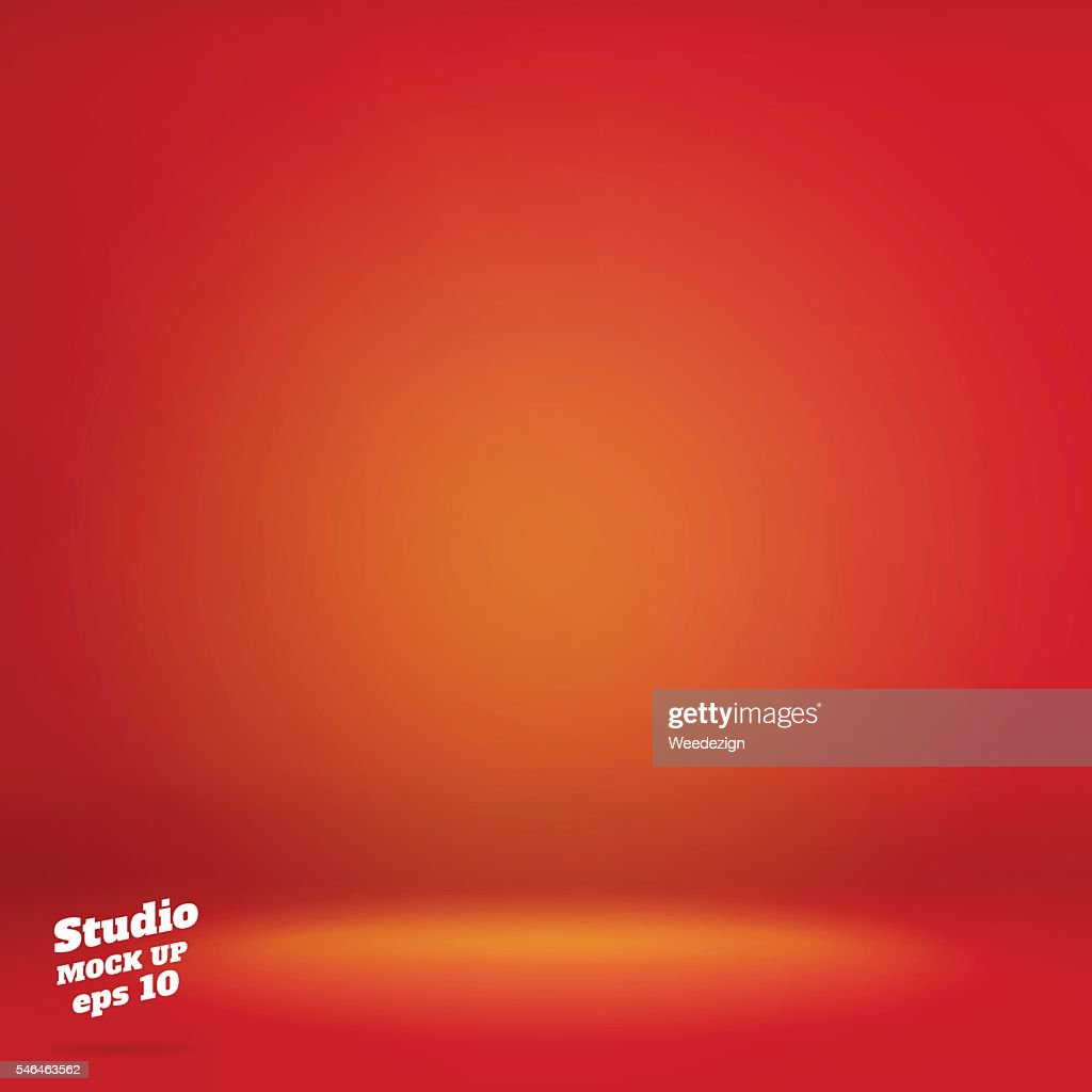 Vector,Empty vivid lighting red studio room background ,Template