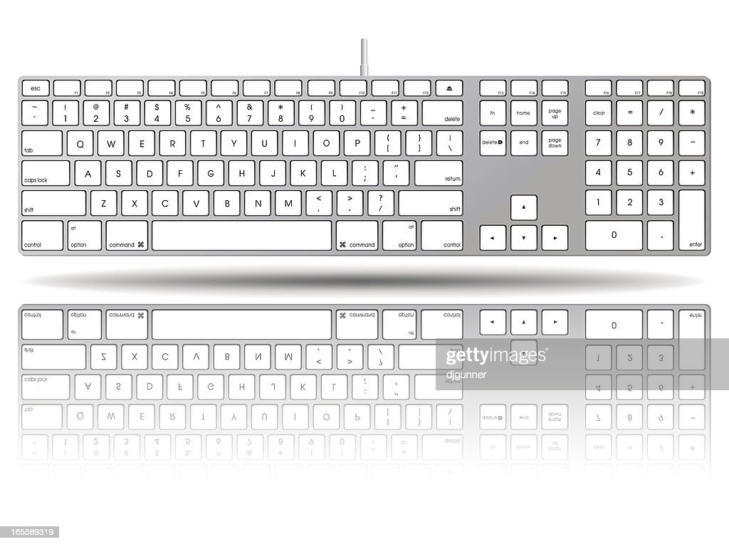 Vectorial illustration of a large computer keyboard
