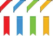 Vectorized drawing four colored ribbons