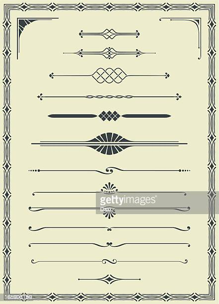 Fichiers vectorisés et arabesques ensemble vide chèque