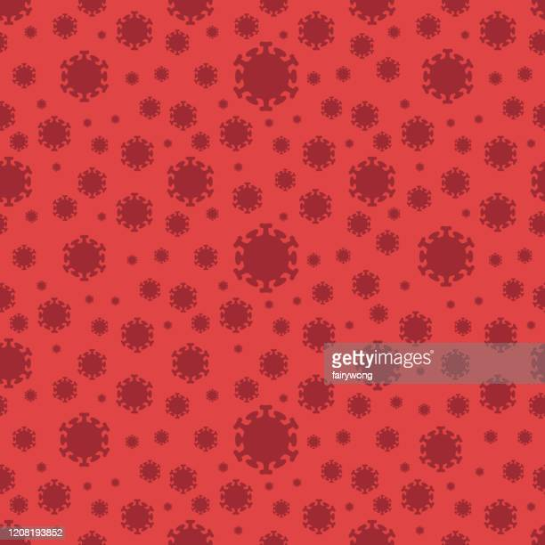 vectors corona virus seamless background - coronavirus stock illustrations