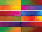 Vectors polygonal backgrounds for banner.
