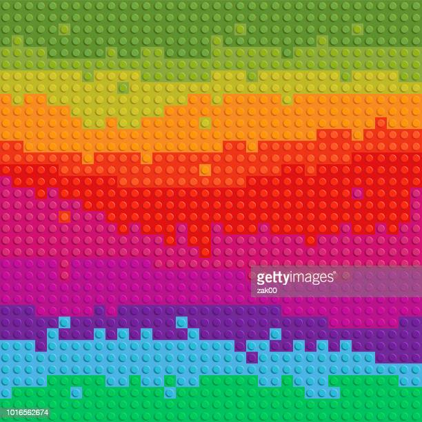vectors spectrum backgrounds puzzle toy seamless - childhood stock illustrations