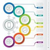 VectorTemplate of a infochart, diagram or presentation.