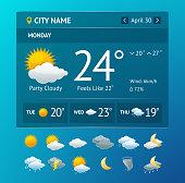 Vectot weather widget for smartphone