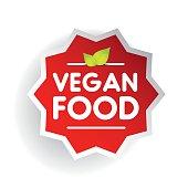 Vegan Food label vector