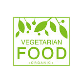 Vegan Natural Food Green Logo Design Template With Square Frame Promoting Healthy Lifestyle And Eco Products