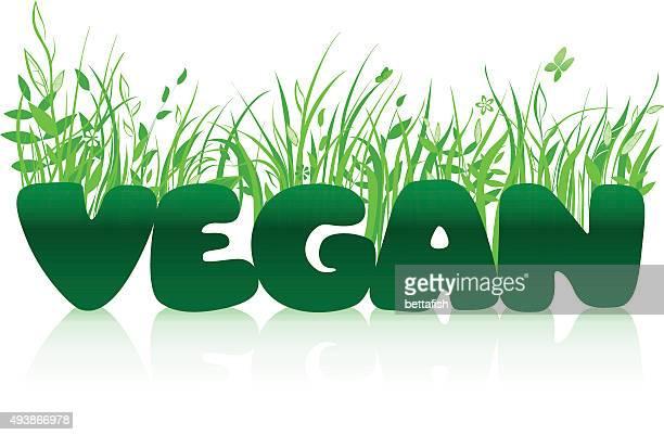 Vegan typographic concept