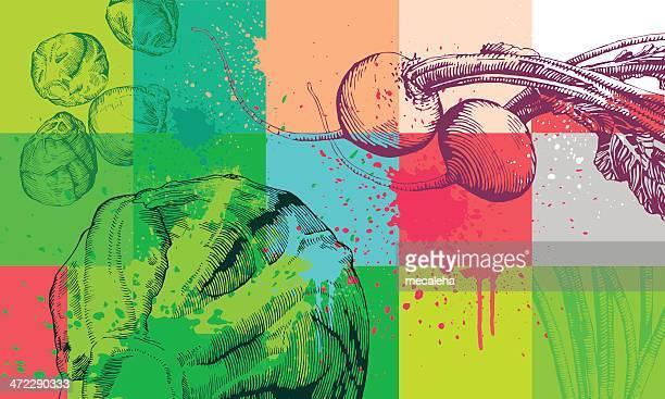 vegetable background - freshness stock illustrations