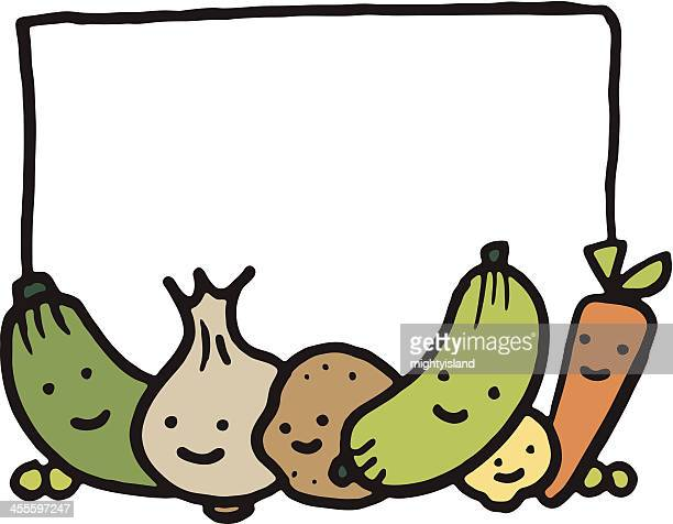 vegetable banner with copyspace - marrom stock illustrations