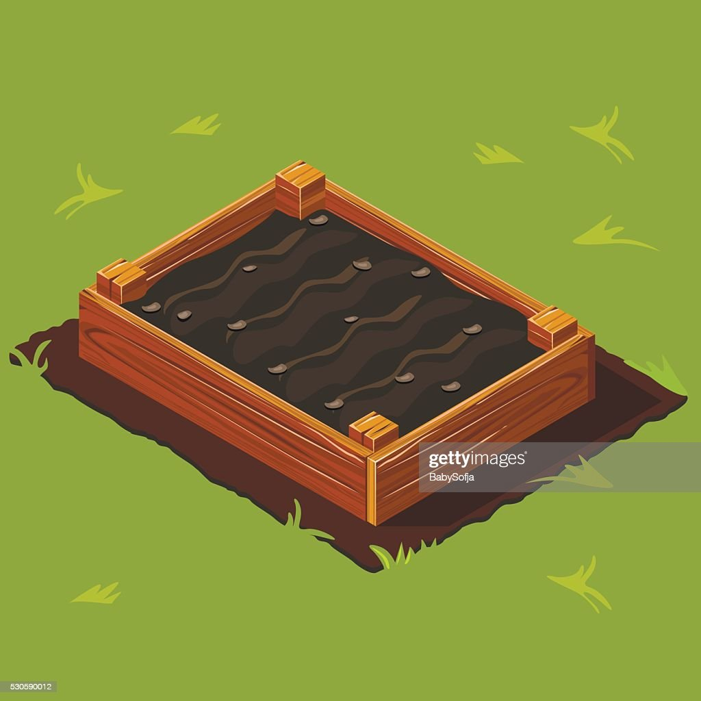 Vegetable Garden Wooden Box. Set 13