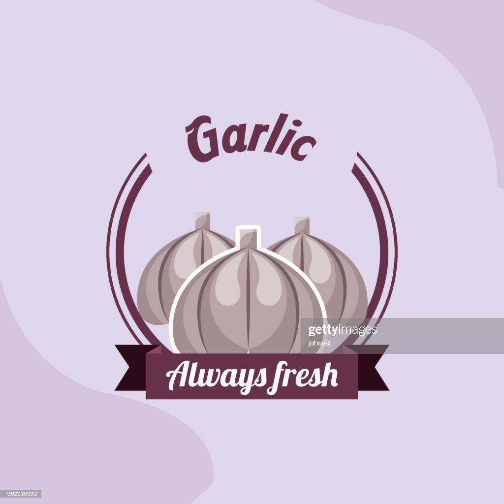 vegetable garlic always fresh emblem