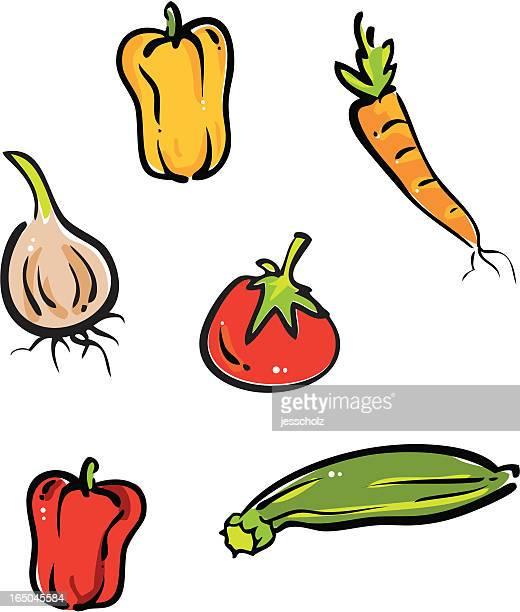 vegetable harvest - marrom stock illustrations