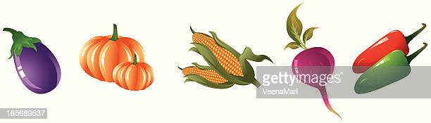 vegetable icon set - common beet stock illustrations, clip art, cartoons, & icons