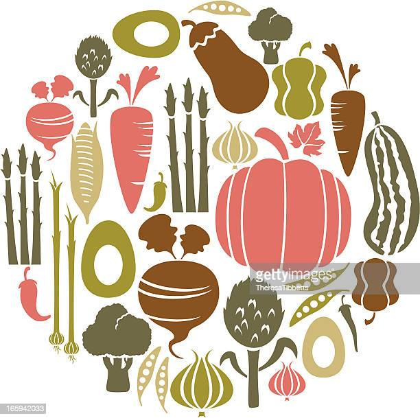 vegetable icon set - rutabaga stock illustrations, clip art, cartoons, & icons