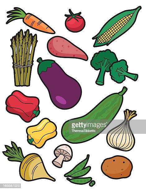 vegetable icons - marrom stock illustrations