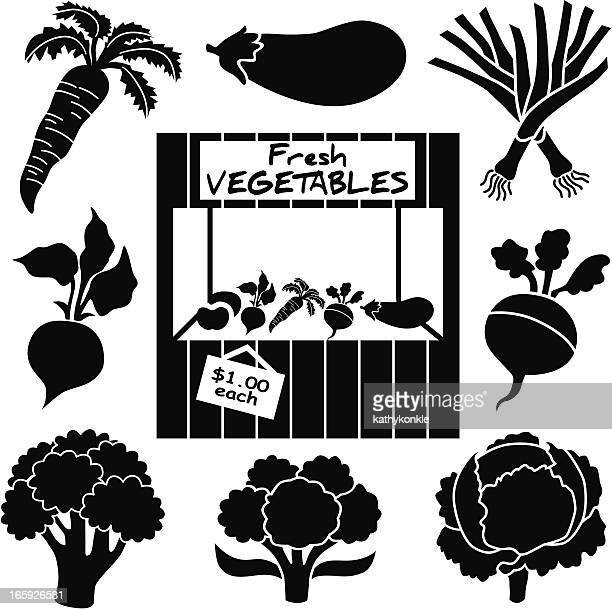 vegetable icons - turnip stock illustrations, clip art, cartoons, & icons