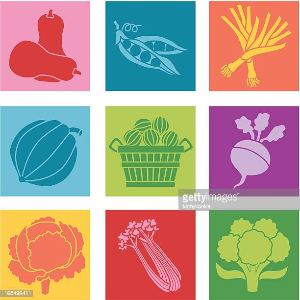 vegetable illustration with contrast and strong colors - turnip stock illustrations, clip art, cartoons, & icons