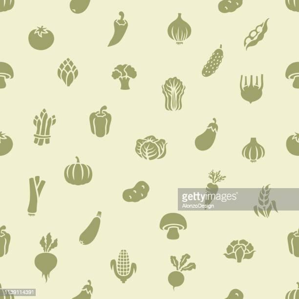野菜の継ぎ目が無いパターン - 食材点のイラスト素材/クリップアート素材/マンガ素材/アイコン素材