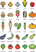 Vegetables - icon set