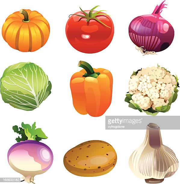 vegetables icon - white cabbage stock illustrations, clip art, cartoons, & icons