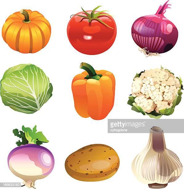 vegetables icon - cauliflower stock illustrations, clip art, cartoons, & icons