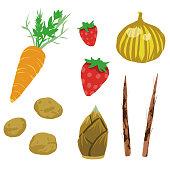 vegetables illustration set 2