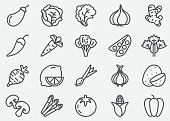 Vegetables Line Icons