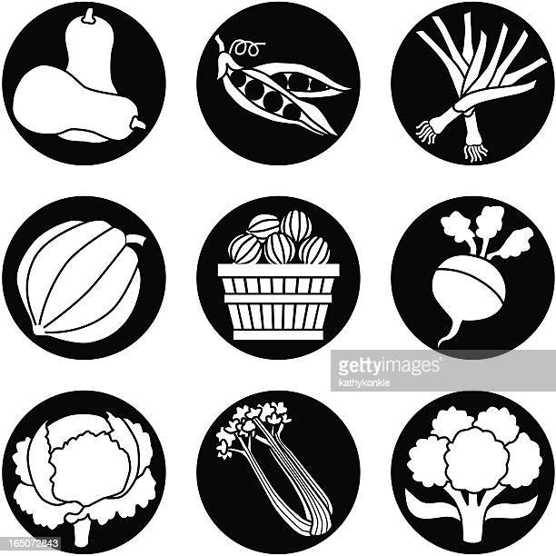 vegetables reversed - leek stock illustrations, clip art, cartoons, & icons