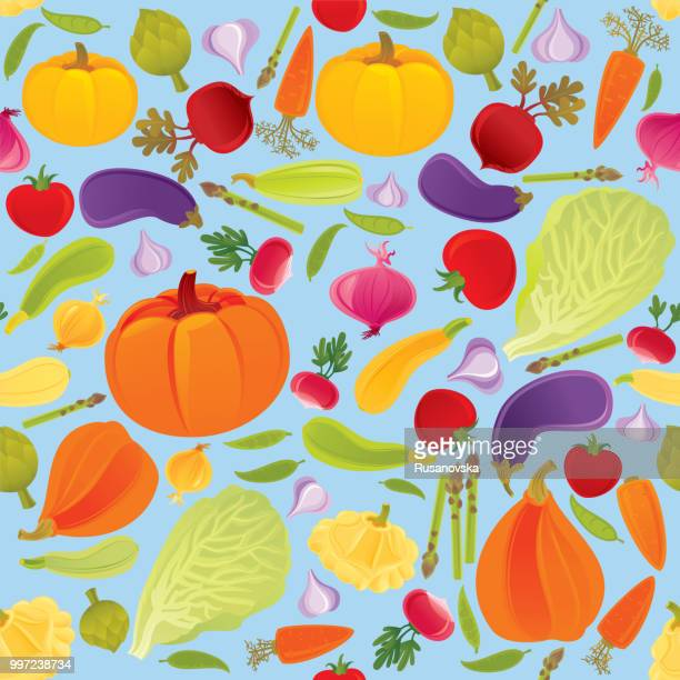 vegetables seamless pattern - antioxidant stock illustrations, clip art, cartoons, & icons