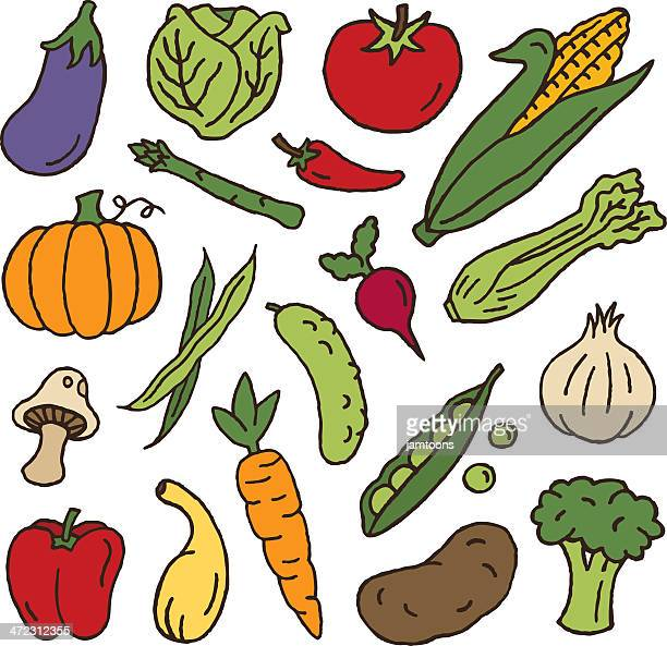 vegetables - cauliflower stock illustrations, clip art, cartoons, & icons
