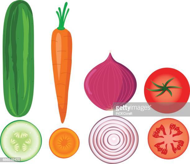 vegetables - cucumber stock illustrations, clip art, cartoons, & icons