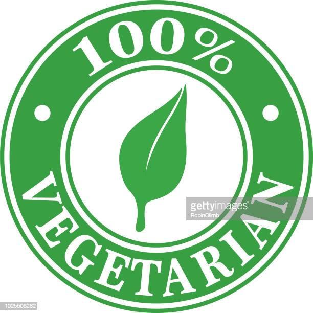 100% Vegetarian Label