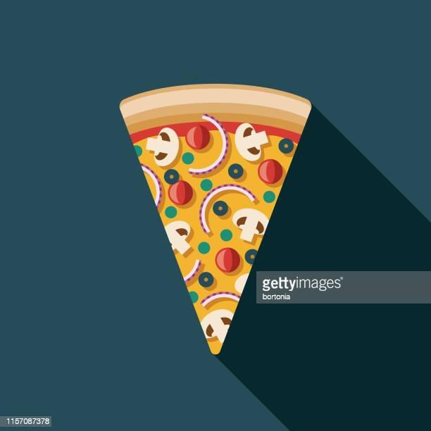 ilustrações de stock, clip art, desenhos animados e ícones de vegetarian pizza icon - pizzaria