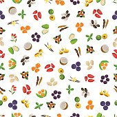 Vegetarian superfood healthy vegetable pattern.