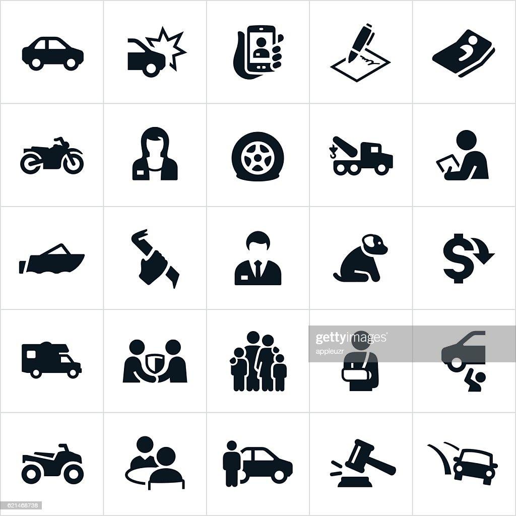 Vehicle Insurance icons : stock illustration