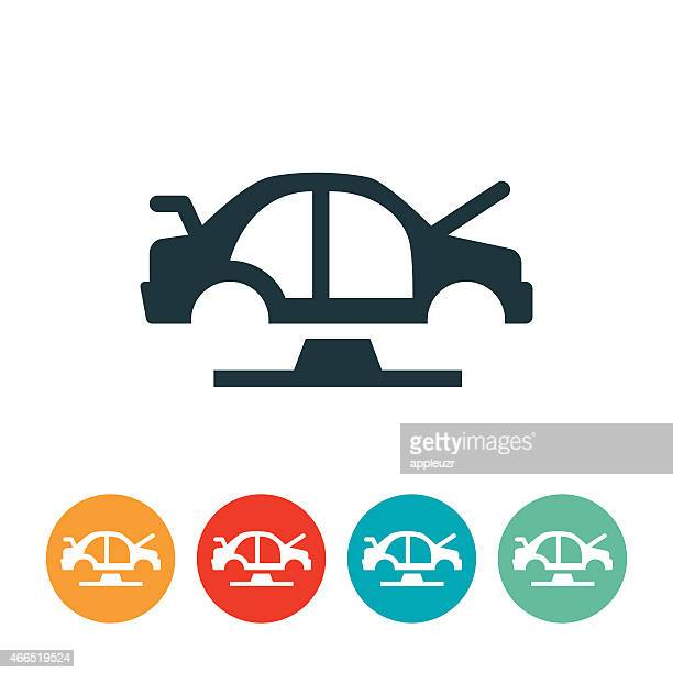 vehicle production icon - chassis stock illustrations
