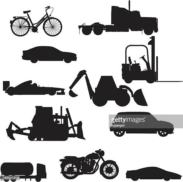 Vehicle Silhouette Collection (vector+jpg)