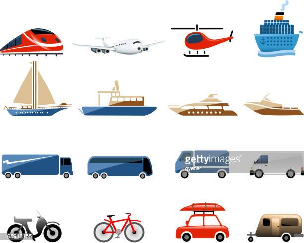 vehicle symbols - motorboating stock illustrations, clip art, cartoons, & icons