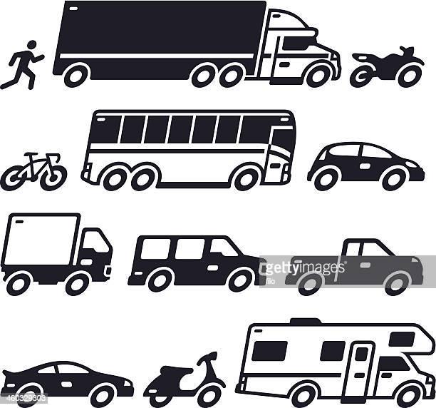 vehicle transportation symbols - moped stock illustrations, clip art, cartoons, & icons