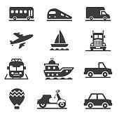 Vehicles and Transportation Icon Set