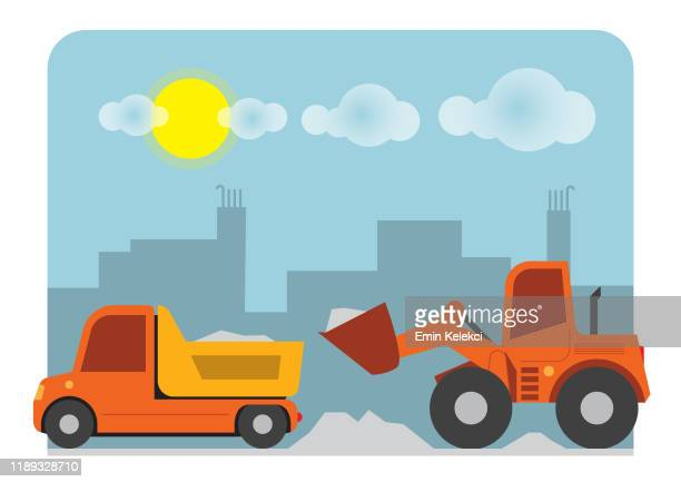 車 - 荷積み場点のイラスト素材/クリップアート素材/マンガ素材/アイコン素材