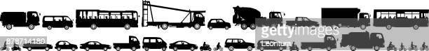 fahrzeuge. - panorama stock-grafiken, -clipart, -cartoons und -symbole