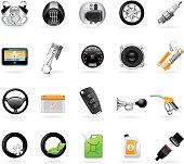 Vehicular service center (car maintenance station) icons