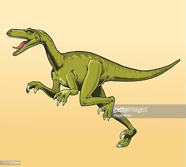 veliciraptor - bird of prey stock illustrations, clip art, cartoons, & icons